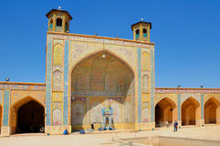 Vakil Mosque. An impressive monument from the Zand era Royalty Free Stock Images