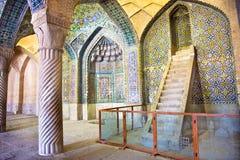 Vakil Mosque, pillars of Prayer Hall Royalty Free Stock Photography
