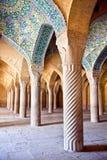 Vakil Mosque, pillars of Prayer Hall Stock Photos