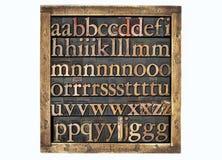 Vakje van houten typebrieven Royalty-vrije Stock Fotografie