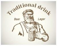 Vakman en van bier Royalty-vrije Stock Afbeeldingen