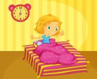 vakna för flicka stock illustrationer