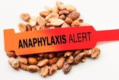 Vakna jordnötter för Anaphylaxis royaltyfri bild