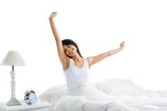 Vakna upp kvinna Arkivfoto