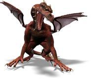 vaknar draken Arkivfoto