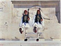 Vaktändringsceremoni, Aten Royaltyfri Fotografi