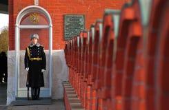 Vakt av heder kremlin moscow Royaltyfria Bilder