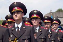 Vakt av heder på Victory Day beröm i Kyiv, Ukraina Arkivbilder