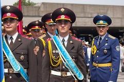 Vakt av heder på Victory Day beröm i Kyiv, Ukraina Arkivfoton