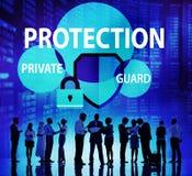 Vakt Concept för Firewall för avskildhet för sekretess för säkerhetsskydd royaltyfri fotografi
