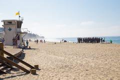 Vakter för Laguna BeachKalifornien liv i utbildning Arkivfoton