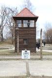 Vakthundtorn i Auschwitz royaltyfri fotografi
