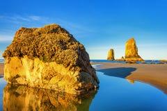 Vaktposter av den Oregon kusten Arkivbild
