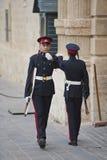 Vaktposter på Grandmasters slott, Valletta Arkivbilder