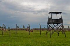 Vaktstolpe i Auschwitz-Birkenau Royaltyfri Fotografi