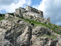 Valère castle in Sion, Switzerland royalty free stock photography