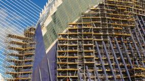 Valência, Espanha - 10 de janeiro de 2018 Construção de uma construção nova na cidade das artes e das ciências video estoque