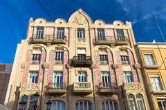 VALÊNCIA, ESPANHA - 15 de novembro de 2017: Construção antiga tradicional da cidade em Valência, Espanha Foto de Stock Royalty Free
