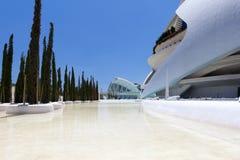 Valência Hemispheric - cidade das artes e da ciência, Spain foto de stock