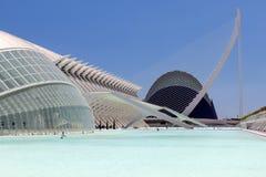Valência Hemispheric - cidade das artes e da ciência, Spain foto de stock royalty free