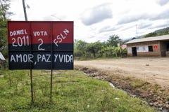 Val- aktion i Nicaragua Arkivfoto