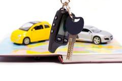 Val av att köpa en ny bil Royaltyfri Fotografi