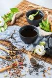 Val av den japanska kinesiska växt- masalatetekannan Royaltyfria Foton