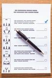 Val av en kandidat Arkivfoton