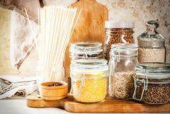 Val av gluten-fria produkter arkivfoto