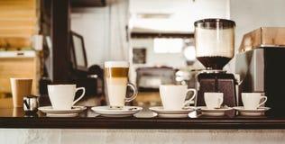 Val av kaffe på räknaren Arkivfoto