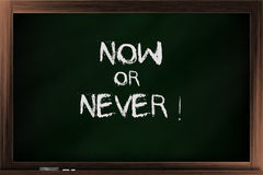 Val av nu eller aldrig Royaltyfri Fotografi