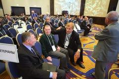 Val av presidenten av den ryska fotbollunionen Royaltyfria Foton