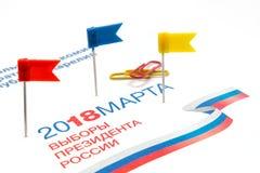 Val av presidenten av Ryssland Mars 18, 2018 Royaltyfri Foto