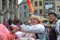Val av prinsen och prinsessan av karnevalet Arkivfoton