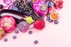 Val av purpurfärgade foods royaltyfri bild
