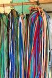 Val av shoelaces i Indien Arkivfoton