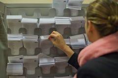 Val av sluten omröstningarket Arkivbild