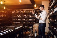 Val av vin Vad definierar ett bra vin arkivbild