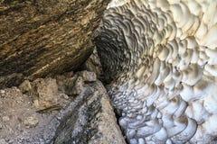 Val Badia, Grotta della neve - Fotografia Stock