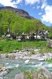 Val Bavona, Ticino, Meer Maggiore, Zwitserland Stock Afbeelding
