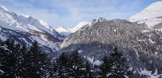 Val Blenio. view of the mountains towards the Lucamagno Royalty Free Stock Photo