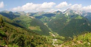 Val Brembana, direction de Passo San Marco image libre de droits