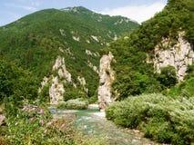 Val Brembana, direction of Passo San Marco stock image