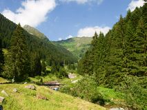 Val Brembana, direction of Passo San Marco stock images