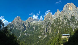 Val Canali, Pale di San Martino - Dolomites. South view of the majestic Pale di San Martino, Dolomites - Italy royalty free stock photography