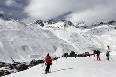 Val Claret, Winter ski resort of Tignes-Val d Isere, France Stock Photography