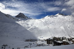 Val Claret, Winter ski resort of Tignes-Val d Isere, France Stock Images