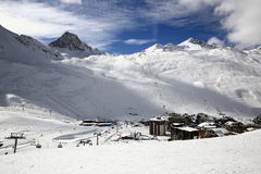 Val Claret, Winter ski resort of Tignes-Val d Isere, France Royalty Free Stock Photography