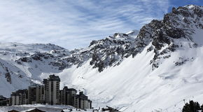 Val Claret, Winter ski resort of Tignes-Val d Isere, France Royalty Free Stock Photo