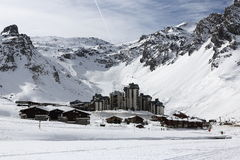 Val Claret, Winter ski resort of Tignes-Val d Isere, France Royalty Free Stock Image